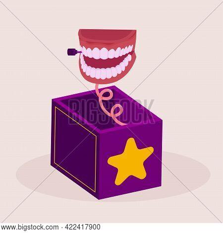 Isolated Box Smile April Fools Humor Icon- Vector