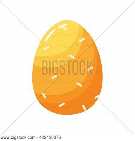 Isolated Orange Easter Egg Symbol Holiday Vector Illustration