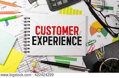 Business Man Pointing The Text: Customer Experience.