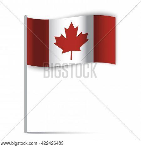 Canada Flag. Canada Flag Stick. Vector Illustration. Eps 10.