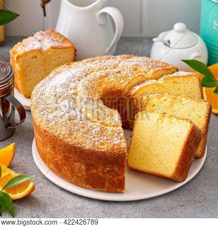 Traditional Vanilla Pound Cake With Orange Extract, Bundt Cake