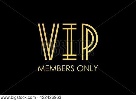 Vip Members-only Elegant Emblem Design Template.