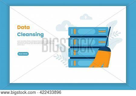 Data Cleansing Illustration Concept