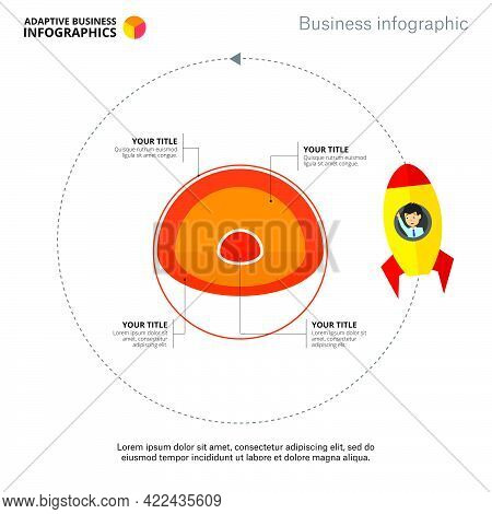Core Infographic Diagram. Layer Chart, Spherical Diagram, Template. Creative Concept For Infographic