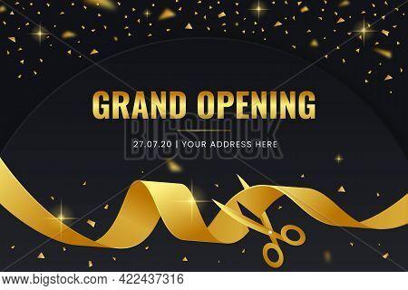 Elegant Grand Opening Background