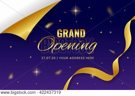 Grand Opening Vector Illustration Background