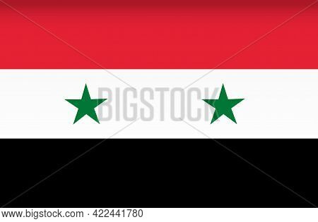 Vector Flag Of Syria. Color Symbol Isolated