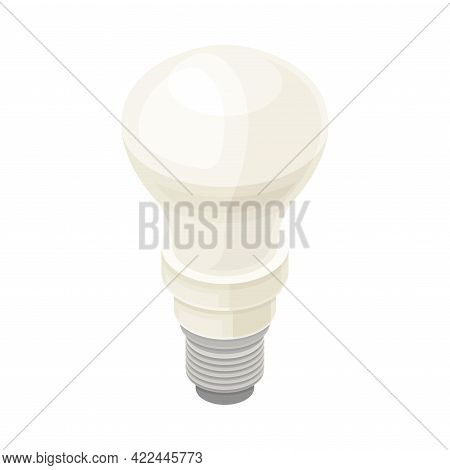 Incandescent Light Bulb As Electric Power Object Isometric Vector Illustration