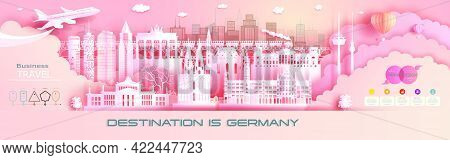 Advertising Travel Company Go To Germany Top World Famous. Tour Presentation, Design, Template, Bann