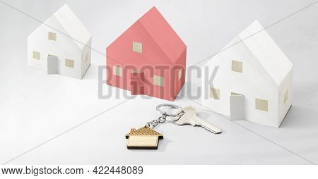 The Concept Of Mortgage, Sale And Rental Of Housing And Real Estate. Mortgage Credit Lending. Models
