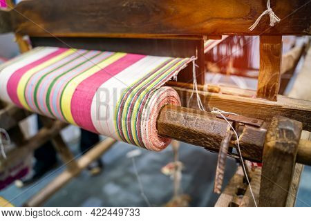 Traditional old loom made of wood