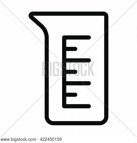 Icon Of Chemistry Beaker. Editable Bold Outline Design. Vector Illustration.