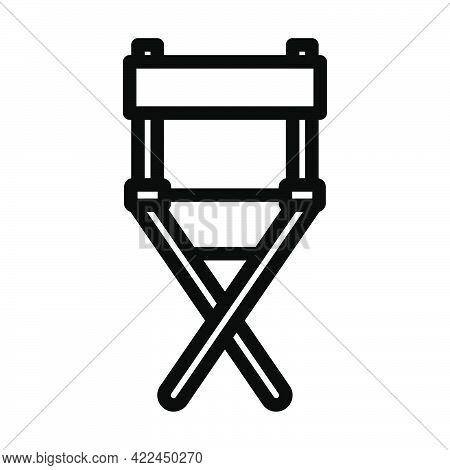 Director Chair Icon. Editable Bold Outline Design. Vector Illustration.