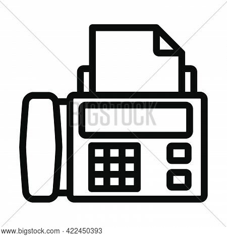 Fax Icon. Editable Bold Outline Design. Vector Illustration.