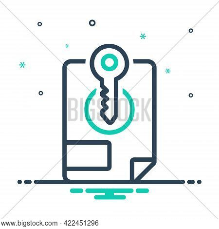 Mix Icon For File-access File Access Archive Document Keyword Sheet Login