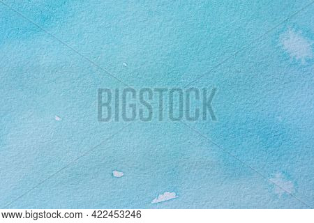 Sea Blue Watercolor Background. Abstract Pastel Background Of Sky Or Water. The Texture Of Colored P