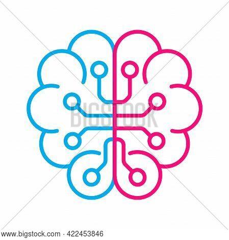 Artificial Intelligence Ai Brain Vector Icon Symbol For Graphic Design, Logo, Web Site, Social Media