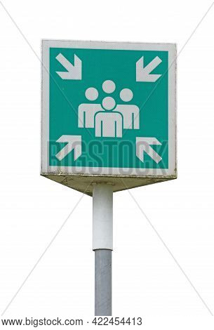 Emergency Evacuation Assembly Point Sign Banner, Gathering Point Signboard