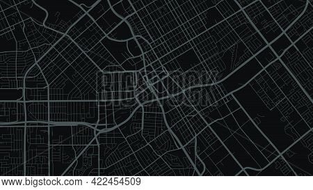 Black And Dark Grey San Jose City Area Vector Background Map, Streets And Water Cartography Illustra