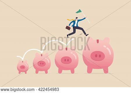 Investment And Savings Growth, Salary Or Profit Increase, Making More Money And Collect More Wealth