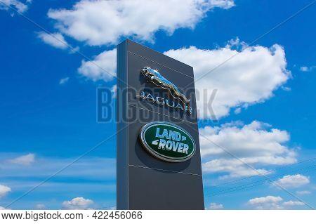 Kyiv, Ukraine - May 8, 2021: Land Rover Logo