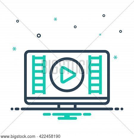 Mix Icon For Video Show Demonstrate Player Display Publicity Blurb Broadcasting Streaming Multimedia