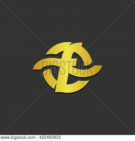 Initial Letter F Logo Design Vector Illustration. Letter F Icon Design.