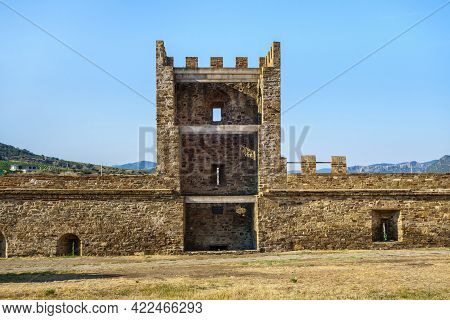 Tower Of Pasquale Giudice (he Was Consul) In Medieval Genoese Fortress, Sudak, Crimea. Fortress Was