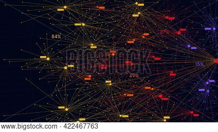 Big Data Information Nodes, Information Analysis And Sorting Of Neural Connections, Scientific Visua