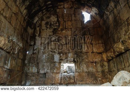 Interior Of Mausoleum Of Queen Aba In Ancient City Kanli Divane Or Canytelis, Ayaş, Turkey. It Was B