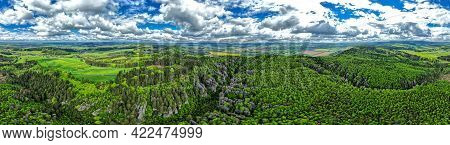 Spherical 360 Degrees Panorama Of Typical Czech Countryside Europe Hdr