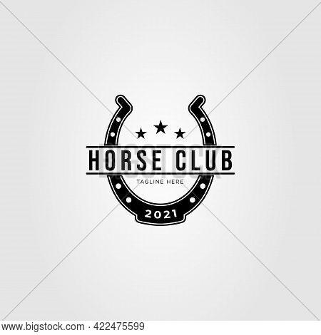 Blacksmith Horseshoe Stable Logo Vector Illustration Design