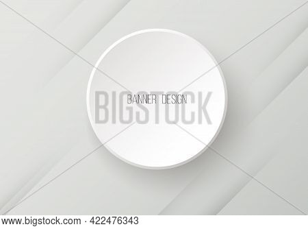 Vector Round Paper Banner With Shadow Vector
