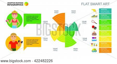 Eight Sectors Pie Chart. Business Data. Athlete, Diagram, Design. Creative Concept For Infographic,