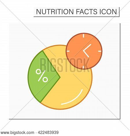 Daily Value Color Icon. Daily Nutrition Supplements Percentage. Eat Period. Portion Control. Healthy