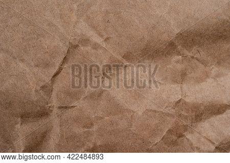 Old Vintage Crumpled Brown Paper Background Texture. Paper Texture Background, Crumpled Paper Patter
