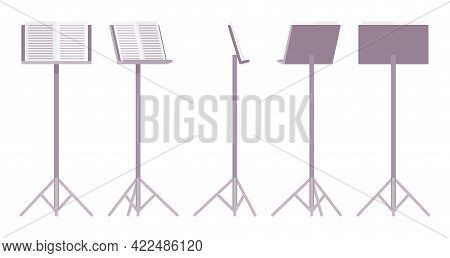 Sheet Music Stand, Grey Tripod Pedestal For Performers, Singers Pedestal. Orchestras, Choirs, Bands.