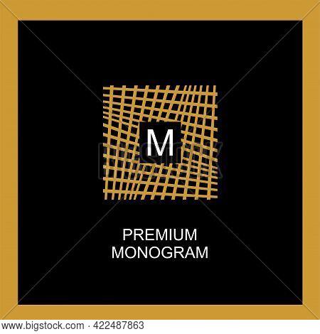 Exquisite Template For Creating A Monogram, Emblem, Logo. Intertwined Web,