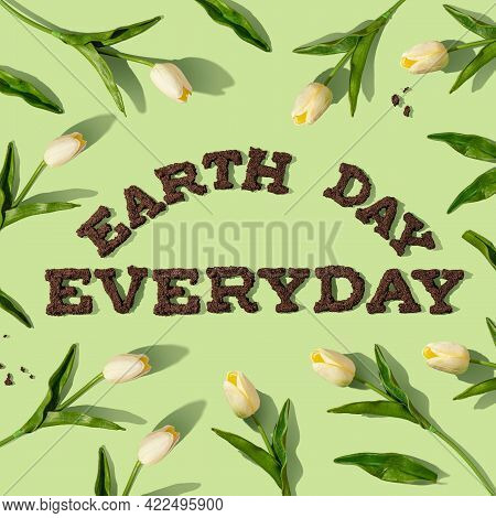 World Environment Day Concept With Tree Planting And Green Earth. Ecosystem Conservation