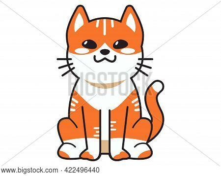 Cute Cat Or Kitten Animal Meow, Cartoon Fluffy Pets Exact Vector Collection. Illustration Cartoon Me