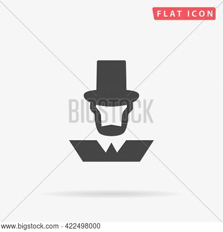American President Abraham Lincoln Flat Vector Icon. Hand Drawn Style Design Illustrations.
