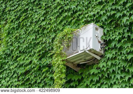Air Conditioning Service Maintenance. Ac Units And Generator. Outside Mini-split Air Conditioners
