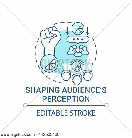 Shaping Audience Perception Concept Icon. Strong Brand Benefit Abstract Idea Thin Line Illustration.