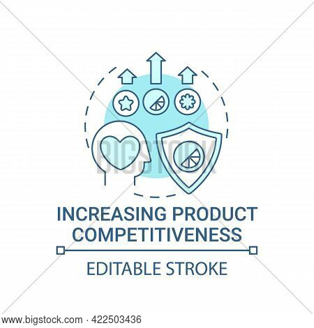 Increasing Product Competitiveness Concept Icon. Strong Brand Benefit Abstract Idea Thin Line Illust