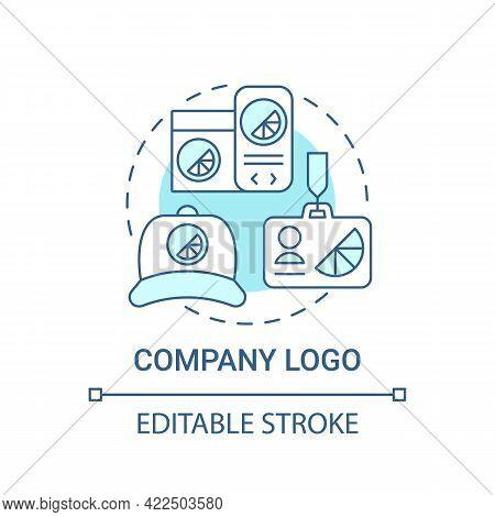 Company Logo Concept Icon. Corporate Branding Abstract Idea Thin Line Illustration. Visual Company R