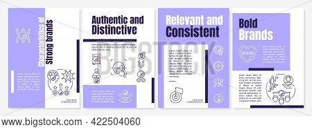 Characteristics Of Strong Brands Brochure Template. Popular Brands. Flyer, Booklet, Leaflet Print, C
