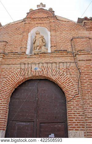 Door To The Church Of Saint Andres In Olmedo, Spain