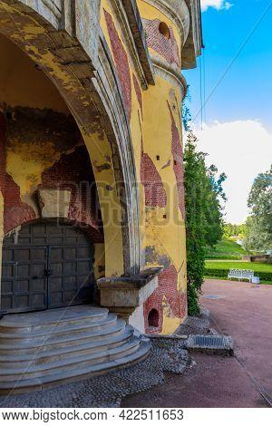 Tower-ruin In Catherine Park At Tsarskoye Selo In Pushkin, Russia