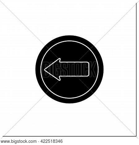 Arrow Symbol Glyph Icon.navigation Pointer. Left Direction.road Traffic Sign. Public Place Navigatio