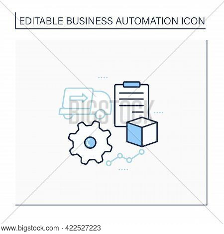 Purchase Orders Line Icon. Automate Purchase Order, Approval Process. Business Automation Concept.is
